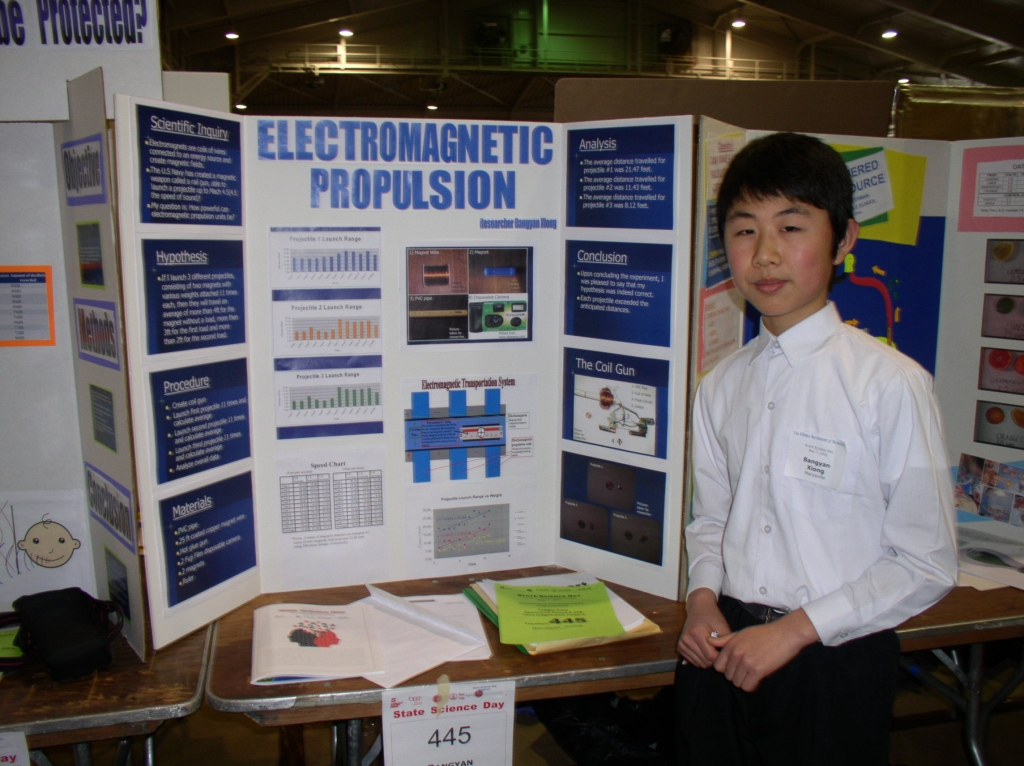 electromagnet science project Determine which of the following variables most greatly affected the strength of an electromagnet: the number of coils, the voltage of the power source, the diameter of the core, and the gauge of the wire.
